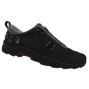 Ahnu Leather Elastic Lace Walking Hiking Shoes